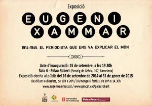 Exposició sobre Eugeni Xammar al Palau Robert