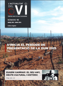 """Pordada de la revista """"L'actualitat del vi"""""""