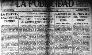Entrada 16. La Publicidad 2 maig 1918 imatge