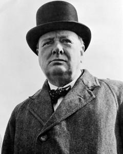 Winston Churchill, aleshores ministre de Marina.