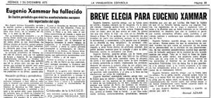 Obituari de Manuel Aznar a La Vanguardia.