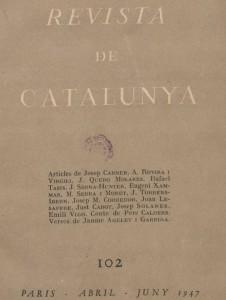 Portada de la Revista de Catalunya d'abril de 1947